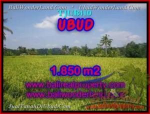 TANAH di UBUD BALI DIJUAL 1,850 m2 di Ubud Tegalalang