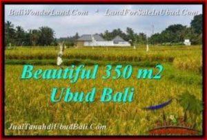 JUAL TANAH di UBUD BALI 3.5 Are View Sawah, link villa