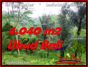 DIJUAL MURAH TANAH di UBUD BALI 4,040 m2 di Ubud Tegalalang