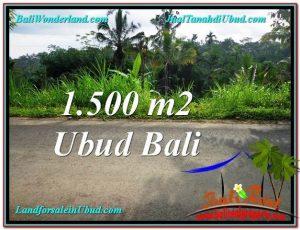JUAL TANAH di UBUD 1,500 m2 View Kebun dan Tebing